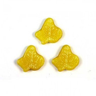 1 ELECTRIC YELLOW PREMIUM GLASS MAPLE LEAF mosaic accent piece