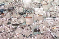 Alex's Textured Mirror Mix Hand Cut Glass Mosaic Tiles