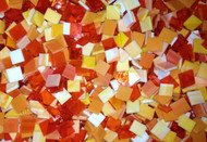 Orange Mix Stained Glass Mosaic Tiles