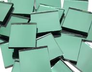 "1"" x 1"" Treefoil Green Mirror Mosaic Tiles"