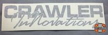 "8x2"" CI Script Silver Vinyl Transfer Sticker"