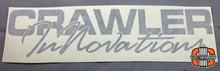 "12x3"" CI Script Silver Vinyl Transfer Sticker"