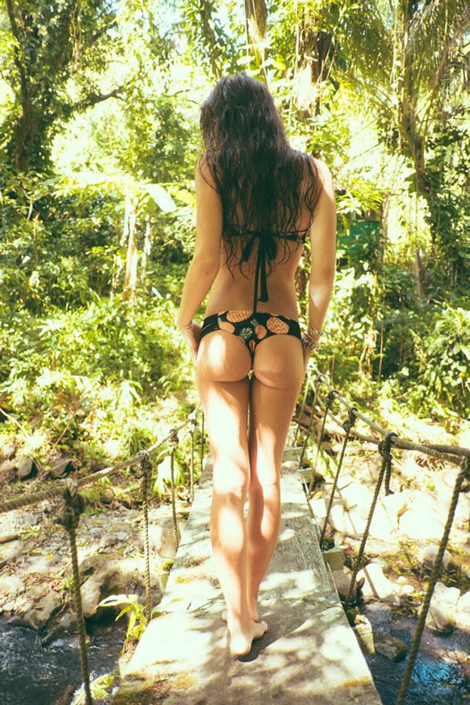 A KAMAOLE Reversible  Bikini Brazilian Bottoms Customize Size & Choose from 50+ Fabrics