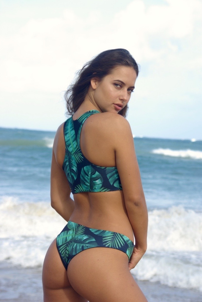 Kilauea Reversible RacerBack Sports Bra Swimsuit Bikini Top Customize Size & Choose from 50+ Fabrics
