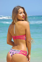 JAWS: REVERSIBLE FISHNET Braided side brazilian bikini