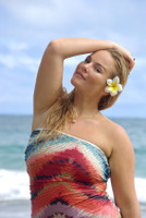 OHEO  1 Piece REVERSIBLE  Strapless Knotted Bathing Customize Size & Choose from 50+ Fabrics