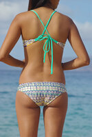 Kahekili Cross Back Halter Reversible Bikini Tops Style Customize Size & Choose from 50+ Fabrics