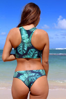Kilauea Reversible RacerBack Sports Bra Swimsuit Bikini Top Customize Size & Choose from 50+ Fabrics