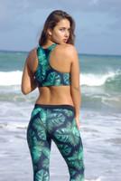 A Kilauea Reversible Racer Back Sports Bra Swimsuit Bikini Top Customize Size & Choose from 50+ Fabrics