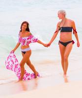 AA Luna Ruffle Bandeau Bikini Top
