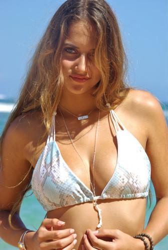 Hanapepe Braided Straps Triangle Slider & Swoop Neck Bikini Top Customize Size & Choose from 50+ Fabrics