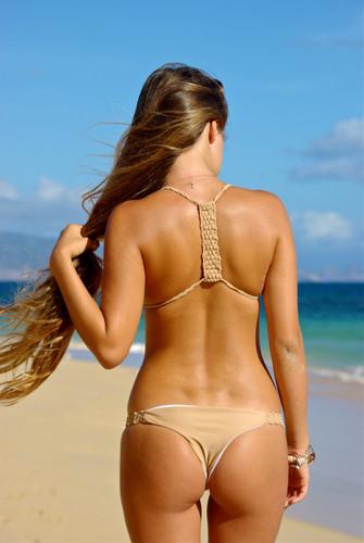 Hamoa Couture Basket Weave Bralet Halter Bikini Top Customize Size & Choose from 50+ Fabrics T1