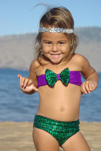 ATTINA: Baby Bow Bikini TOP   Customize Size & Choose from 50+ Fabrics