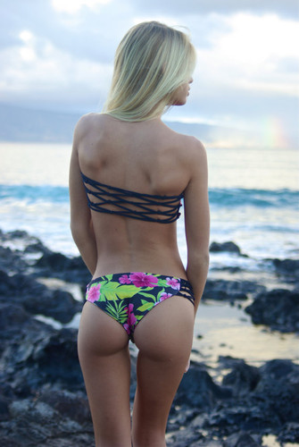 A Tide Pools Reversible Fishnet Moderately Cheeky  Bikini Bottoms* Customize Size & Choose from 50+ Fabrics1