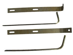 Bumper Bracket Set, Front. Fits 356B & C.