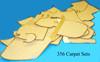 Carpet Set, 356 Speedster, W/Vinyl Binding, Squareweave