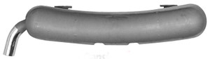 Porsche 911 Exhaust, Dansk OEM Quality, Stainless Steel W/Grey paint, Chrome Exhaust 911 '65-'76