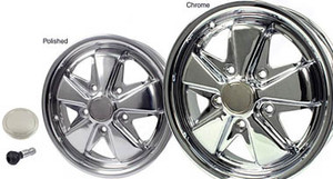 Porsche 911, 912, Fuchs Wheels , Triple Chrome or Polished, New