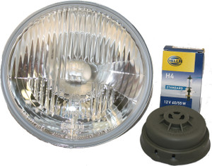 """Porsche Headlight High/Low Beam, 7"""" E4 Approved, Hella Made In Germany, Headlight H4 Conversion"""