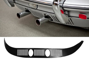 Porsche Lower Rear Panel W/Louvers & Holes For Exhaust Pipe,356B &356C Carrera, 356's '59-'65