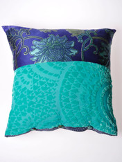 Indigo And Emerald Chinois Cushion