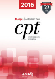 CPT Changes 2016: An Insider's View is a companion for the latest edition of CPT codebook. This book serves as a good cross-reference for the codebook by providing  users with extended and practical explanations and applications for the changes in the codebook, spiral bound.