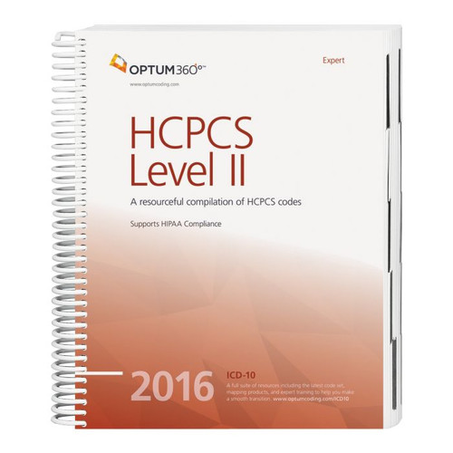 HCPCS Level II Expert 2016. Use this comprehensive reference for the HCPCS code set that focuses on management of reimbursement. This user-friendly book will guide any coder confidently through current modifiers, code changes, additions and deletions with information as dictated by the Centers for Medicare and Medicaid Services (CMS).