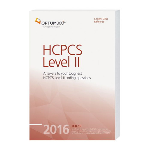 Coders' Desk Reference for HCPCS Level II 2016. With Optum360's one-of-a-kind, comprehensive resource on all the codes for2016, you can reduce coding errors and improve coding confidence by referencing more than 2,000 HCPCS code lay descriptions, answers to frequently asked questions, and other helpful guidance before assigning a code.