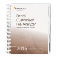 Dental Customized Fee Analyzer  - One Specialty  2016