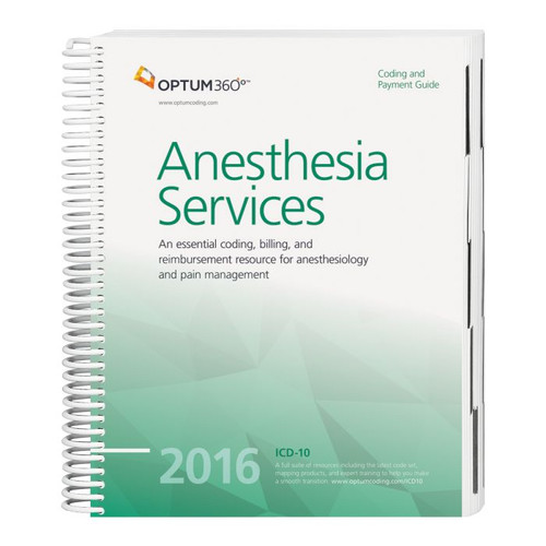 Coding and Payment Guide for Anesthesia Services 2016. This guide has the latest 2016 specialty-specific ICD-10-CM, HCPCS Level II, and CPT® code sets along with Medicare payer information, CCI edits, helpful code descriptions, and clinical definitions.