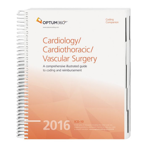 Coding Companion for Cardiology/Cardiothoracic Surgery/Vascular Surgery  2016, This comprehensive and easy-to-use guide includes 2016 CPT®, HCPCS, and ICD-10-CM code sets specific to cardiology, cardiothoracic, and vascular surgery.