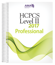 Organized for quick and accurate coding, HCPCS Level II 2017 Professional Edition codebook includes the most current Healthcare Common Procedure Coding System codes and regulations, which are essential references needed for accurate medical billing and maximum permissible reimbursement.