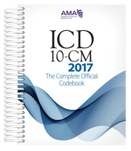 ICD-10-CM 2017: The Complete Official Codebook provides the entire updated code set for diagnostic coding, organized to make the challenge of accurate coding easier. This codebook is the cornerstone for establishing medical necessity, determining coverage and ensuring appropriate reimbursement.