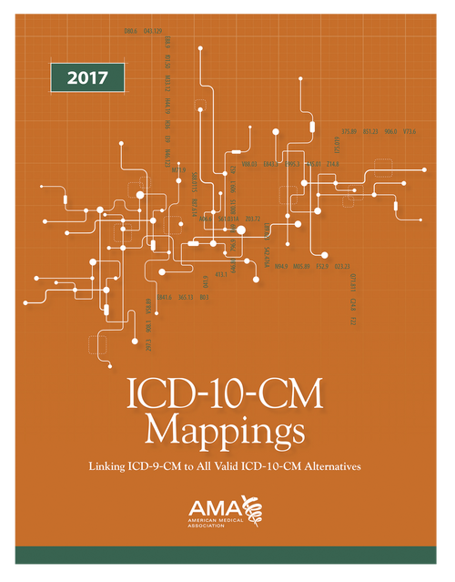 ICD-10-CM Mappings 2017 was created initially to prepare physician offices or facilities for the documentation and coding challenges of the transition to the ICD-10-CM code set