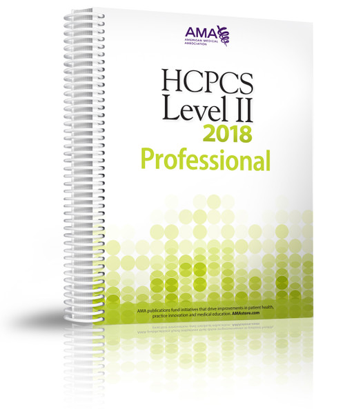 Organized for quick and accurate coding, HCPCS Level II 2018 Professional Edition codebook includes the most current Healthcare Common Procedure Coding System codes and regulations, which are essential references needed for accurate medical billing and maximum permissible reimbursement.