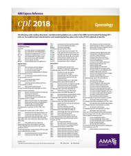 Each double-sided, laminated CPT® 2018 Express Reference coding card is designed to facilitate quick, yet accurate CPT coding by supplying hundreds of the most commonly reported CPT codes per medical specialty. These easy-to-use reference cards allow health care providers and staff members to easily locate a desired code, which can then be referenced in the CPT codebook. A separate card lists all modifiers used with CPT and HCPCS codes.
