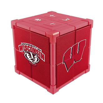 Wiseways Kube Bluetooth Collegiate Speaker for University of Wisconsin Badgers
