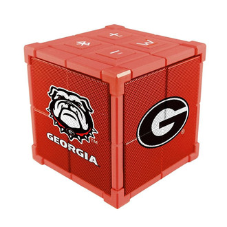 Wiseways Kube Bluetooth Collegiate Speaker for University of Georgia Bulldogs