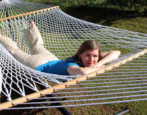 Eco Green Polyester Rope Family Sized Hammock - Eco Earth Friendly Recycled Rope Family Size Hammock - Northern