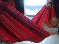 Soft, comfy and colorful Ecuadorian hammock.