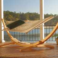 cypress roman arc wooden hammock stand stands   hammock stands   northern lights hammocks  rh   northernlightshammocks
