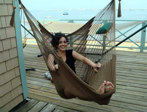 Medium image of     costa rican style swing  stretch out in our soft and  fy polyester hanging chair