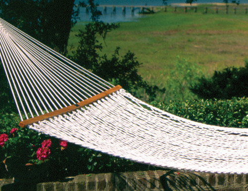 The Original Pawleys Island cotton rope hammock in a single size