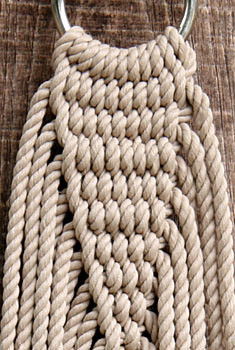 Single size Silkspun Double-weave rope hammock