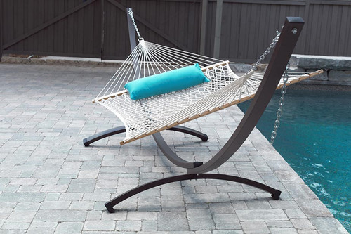 Our NEW Aluminum Arc hammock stand won't rust!