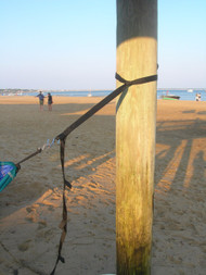 Easy to use straps allow you to hang your hammock anywhere, even on the beach!