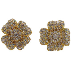 Glittering Flower Stud Earrings