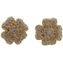Glittering Flower Stud Earrings