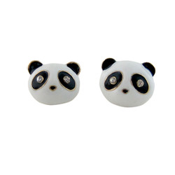 Panda Stud Earrings Jeweled
