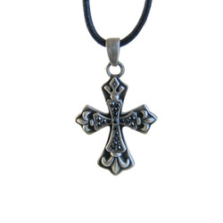 Fleur De Lis Cross Necklace